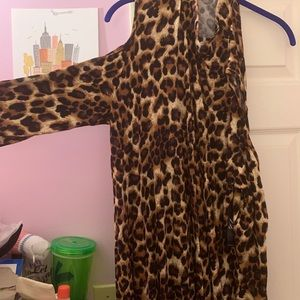 New York & Company Dresses - Cold Shoulder Leopard New York and Company Dress